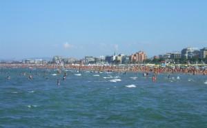 Stranden in Rimini